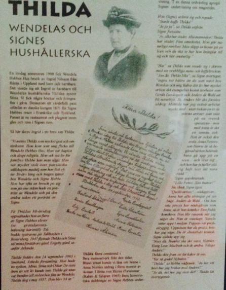 Tavla om Thilda i museet i Wendela Hebbes Hus